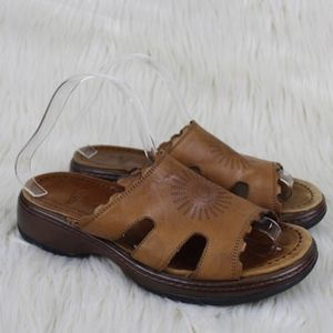 Dansko Eve Sun Leather Slides Sandals Size 39